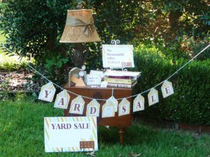 Yard Sale Display