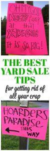Yard Sale Help